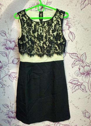 Нарядное платье с кружевом плаття з мереживом uttam london