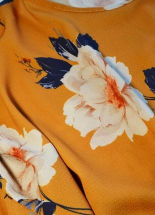 Летнее легкое платье в цветы4 фото
