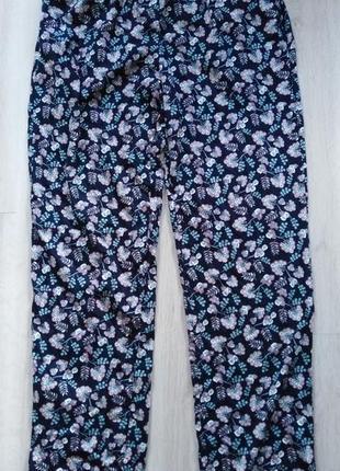 Пижамные штаны р.40 42 м esmara германия штаны для дома в цветы