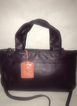 Англия! красивая кожаная сумка на/ через плечо yoshi.