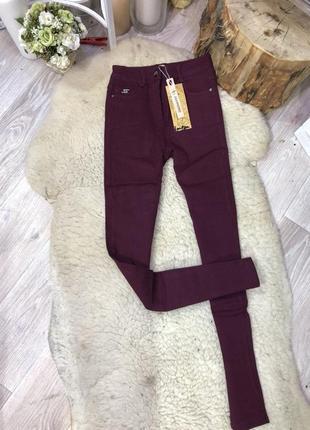 Женские джинсы на флисе батал