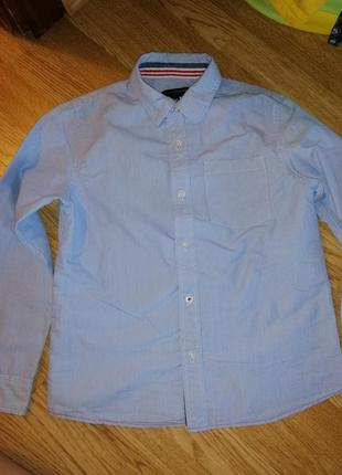 Рубашка на мальчика с длиным рукавом школьная нарядная