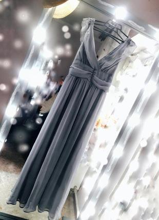 Новое натуральное шелковое платье сарафан длинный повседневное нарядное в пол шифоновый
