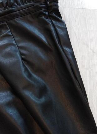 Юбка под кожу чёрная р. 40 42 евро м германия esmara6 фото