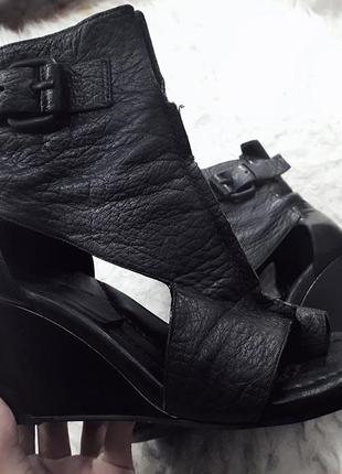 Alexander wang дизайнерские натуральные кожаные босоножки сандалии на танкетке платформе