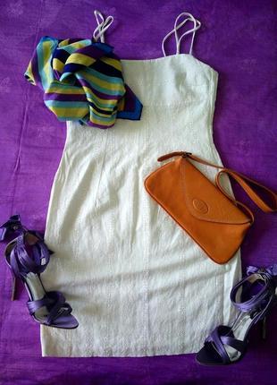 Платье-футляр river island, сарафан, вышивка ришелье (прошва) шитье под dolce&gabbana