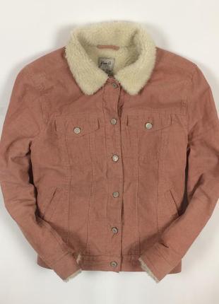 Вельветовая джинсовка denim co утепленная куртка джинсовая женская