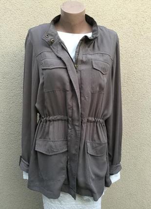 Легкая,летняя,шифоновая куртка-ветровка,рубашка на молнии,кэжуал стиль