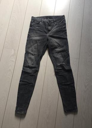 Темно серые джинсы bershka 36