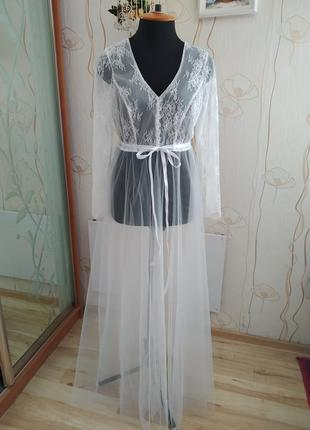 Фатиновый пеньюар на утро невесты