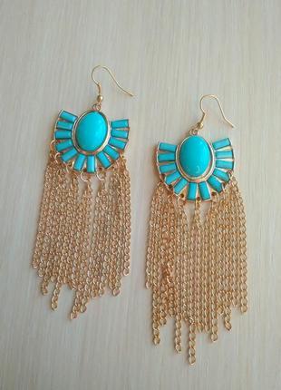 Распродажа украшений! красивые стильные серьги сережки с длинными цепочками