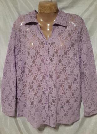 Гипюрова блуза classics