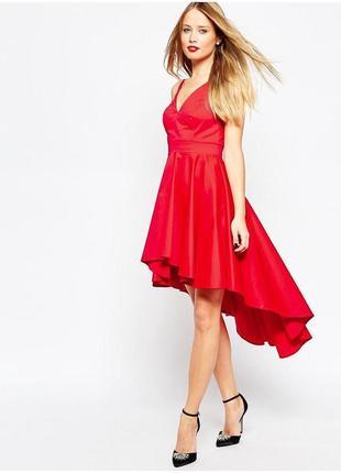 Платье красное с хвостом