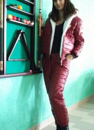 Теплый спортивный костюм на синтепоне