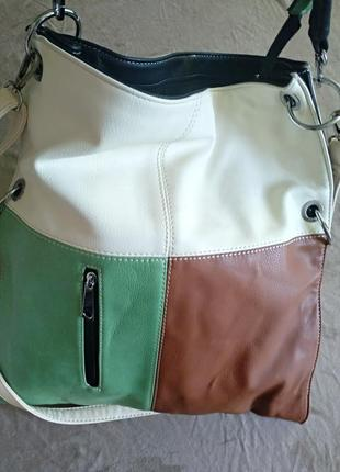 Женская стильная сумка, двусторонняя, в стиле кежуал.