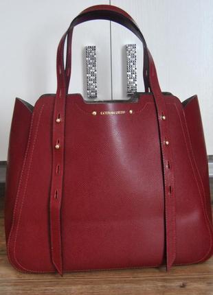 Кожаная сумка шоппер тоут caterina lucchi / шкіряна сумка