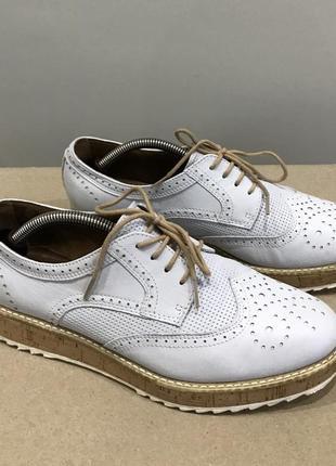 Туфли,броги tamaris ,натуральная кожа