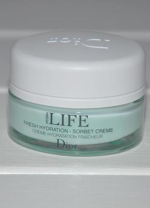 Крем-сорбет для лица christian dior hydra life fresh hydration sorbet creme миниатюра