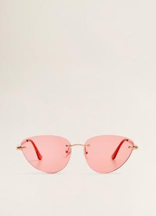 Стильные розовые очки mango