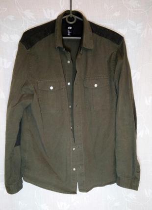 Рубашка h&m милитари р.l (48)