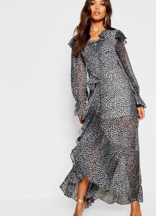 Шикарное летящее легкое платье
