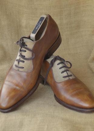 Моднячие коричневые оксфорды george's