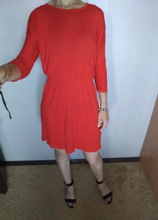 Стильное базовое платье вискоза h&m