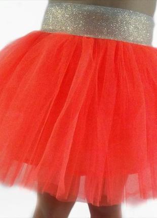 Фатиновая ярко-оранжевая юбочка!