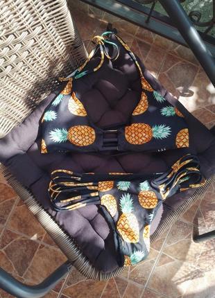 Чёрный купальник 👙 в ананасы 🍍