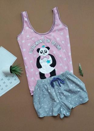 Хлопковая пижама с пандой
