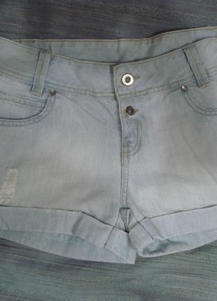 Джинсовые шорты небесно-голубые р. 8 papaya