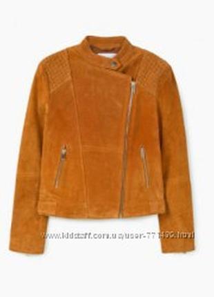Замшевая куртка фирмы mango.