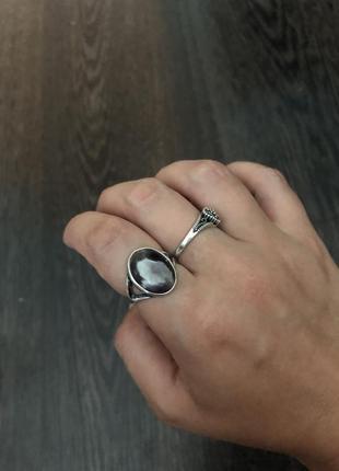 Шикарное серебряное кольцо с аметистом