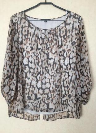 Оригинальная блузка в леопардовый принт от comma