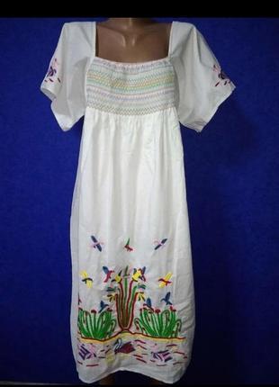 Paul&joe дизайнерское платье 100%котон с вышивкой  54-56