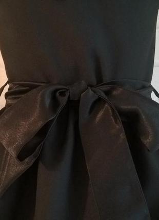 Тёмно-синий школьный сарафан с бантиком и поясом. школьная форма 122-1408 фото