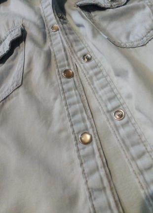 Брендовая рубашка джинсовая2 фото