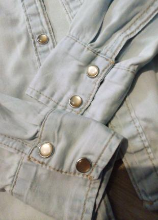 Брендовая рубашка джинсовая3 фото