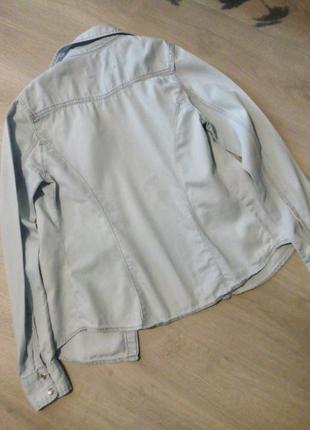 Брендовая рубашка джинсовая8 фото