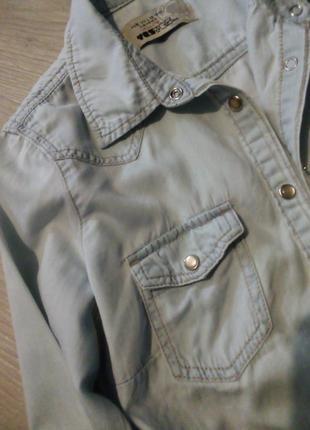 Брендовая рубашка джинсовая9 фото
