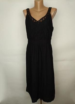Платье новое натуральное красивое двухслойное с вышивкой fat face uk 12/40/m