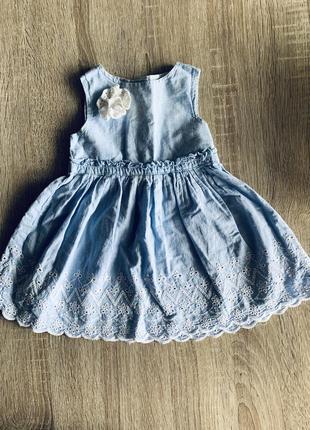 Красивое летнее платье earlydays сарафан на девочку 3-9 месяцев