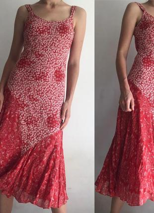 Легкое платье сарафан миди