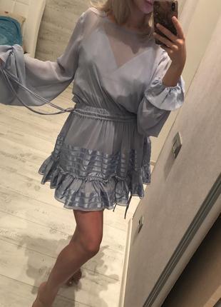 Платье с рукавами-колокольчиками3 фото