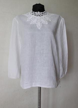Блуза zara лен кружево