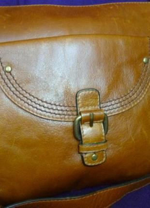 Стильная сумка натуральная кожа autograph