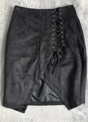 Юбка на талии с шнуровкой mohito