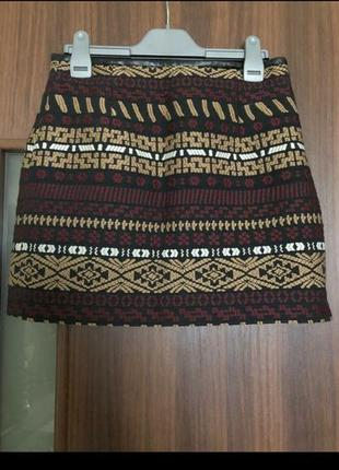🔥только сутки такая цена🔥юбка с вышивкой zara1 фото
