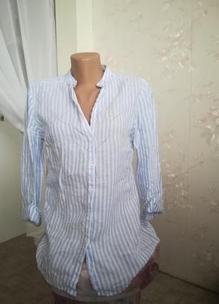 Лён massimo dutti рубашка летняя