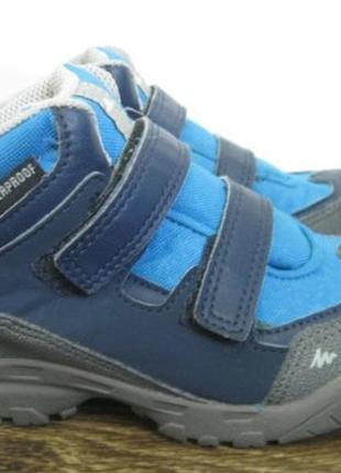 Демисезонные ботинки quechua (кечуа) waterproof р.28